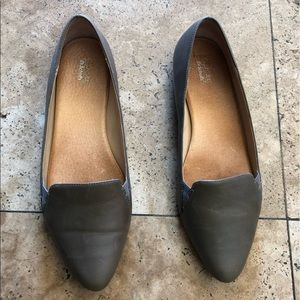Dr Scholl's Original Collection Gray Leather Flats